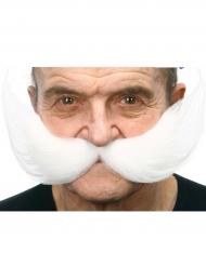 Moustache stort hvidt