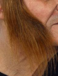 Lange brune bakkenbarter til voksne