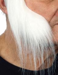 Lange hvide bakkenbarder til voksne