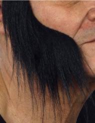 Lange sorte bakkenbarder til voksne