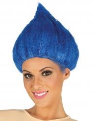 Paryk troll i blå til voksne