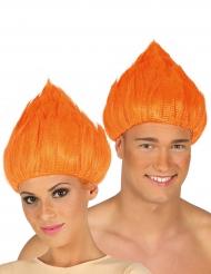 Paryk troll i orange til voksne