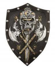 Skjold skelet viking luksus 48 cm