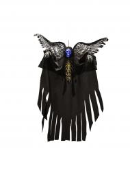 Dekoration hænge skelet med lys og vinger 120 cm Halloween