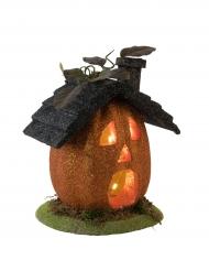 Lysende græskar hus til Halloween