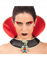 Vampyrkrave med smykke til Halloween