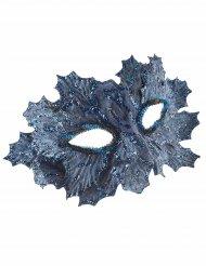 Maske blå med blade med glimmer