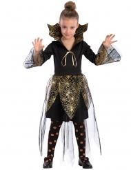 Kostume vampyr guld edderkoppespind til piger Halloween