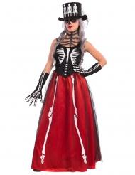 Kostume elegant skelet Halloween