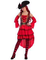Kostume pirat i rød
