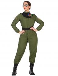 Kostume militærpilot til kvinder