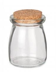 Lille glas med korkprop 8 cm