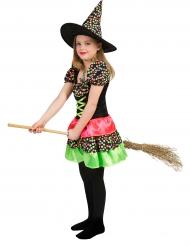 Kostume heks med farvede prikker til piger Halloween