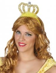 Diadem prinsesse guldfarvet til voksne