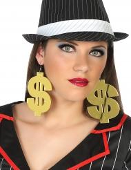Øreringe kæmpe dollartegn til voksne