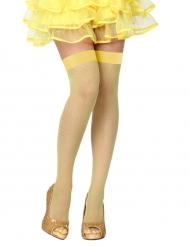 Strømper i gul til kvinder