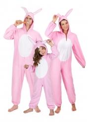Familie kostume lyserøde kaniner