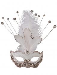 Luksus venetisk maske med palietter - kvinde