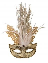 Luksus venetisk brokade mask i guld