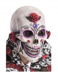 Smuk Dia de los Muertos skelet maske til voksne