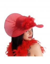 Elegant rød hat til kvinder