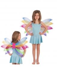 Sommerfuglevinger multifarvet til piger