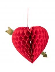 Dekoration hængende hjerte 20 cm