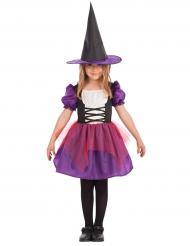 Violet heksekostume til Halloween