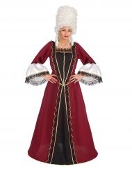 Kostume bordeaux barokkjole til kvinder