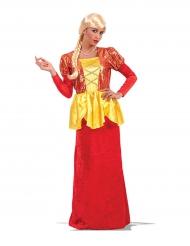 Kostume kejserinde rød og guld til kvinder