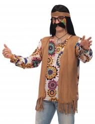 Kostume hippie brunt til mænd