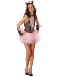 Kostume sexet lyserød panter til kvinder