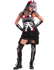 Kostume sexet Dia de los Muertos skelet
