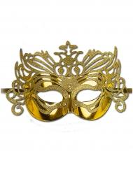 Guldfarvet halvmaske til voksne