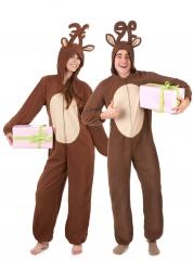 Parkostume rensdyr til jul til voksne