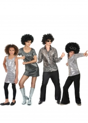 Kostume familie disco sølv