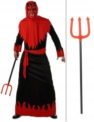 Kostume pakke djævel med trefork Halloween