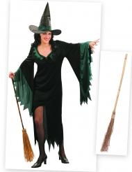 Pakke kostume heks til kvinder med kost Halloween