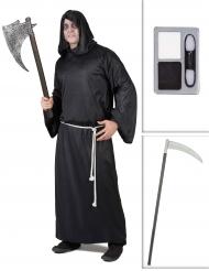 Pakke kostume Døden med le og sminke Halloween