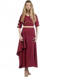 Kostume romersk kvinde i rød