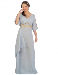 Kostume romersk prinsesse blå til kvinder