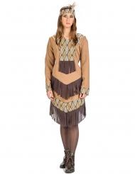 Kostume indianer med blade til kvinder