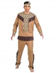 Kostume indianer med blade til mænd