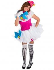 Kostume farverig klovn til kvinder