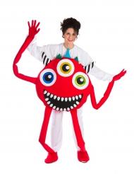 Kostume rødt monster til voksne