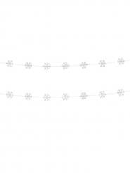 2 guirlander med snefnug hvide 180 cm