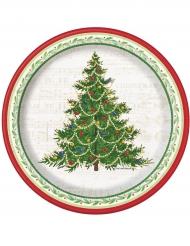 Tallerkener 8 stk. juletræ