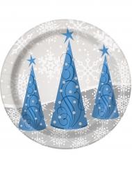 Tallerkener 8 stk rensdyr til jul 18 cm
