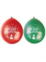 Balloner latex rød og grøn jul 23 cm