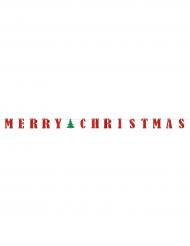 Guirlande banner Merry Christmas 3,65 m